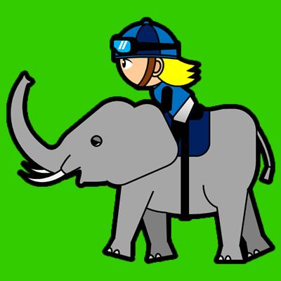 ゾウに乗る騎手のアイコン(4)画像6