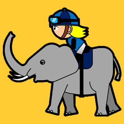 ゾウに乗る騎手のアイコン(4)画像7