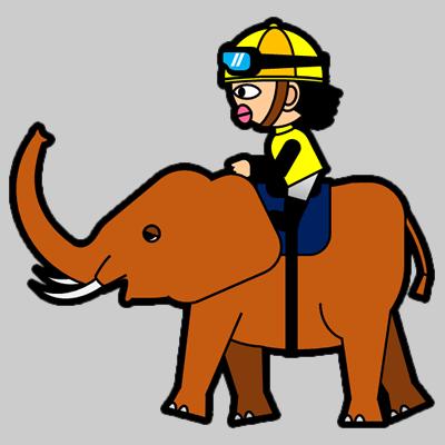ゾウに乗る騎手のアイコン(5)画像