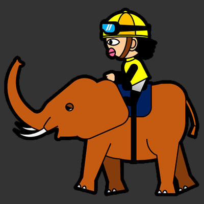 ゾウに乗る騎手のアイコン(5)画像2