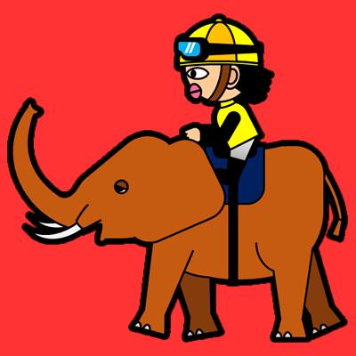 ゾウに乗る騎手のアイコン(5)画像3