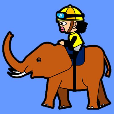 ゾウに乗る騎手のアイコン(5)画像4
