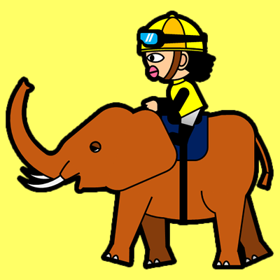 ゾウに乗る騎手のアイコン(5)画像5