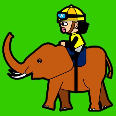 ゾウに乗る騎手のアイコン(5)画像6