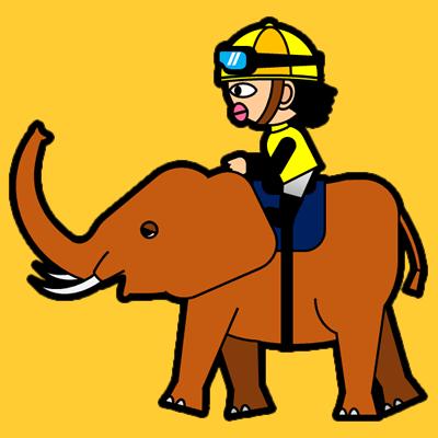ゾウに乗る騎手のアイコン(5)画像7