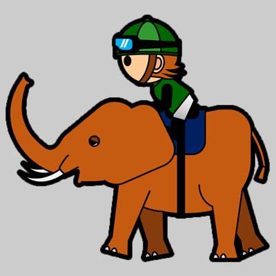 ゾウに乗る騎手のアイコン(6)画像