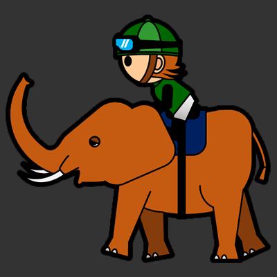 ゾウに乗る騎手のアイコン(6)画像2