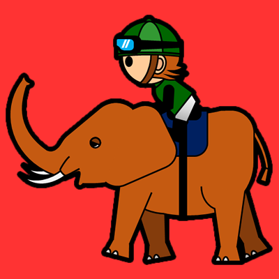 ゾウに乗る騎手のアイコン(6)画像3