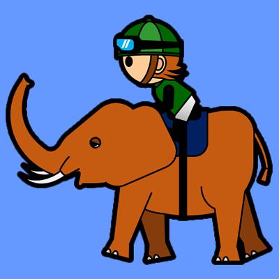 ゾウに乗る騎手のアイコン(6)画像4