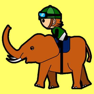 ゾウに乗る騎手のアイコン(6)画像5