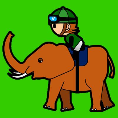 ゾウに乗る騎手のアイコン(6)画像6