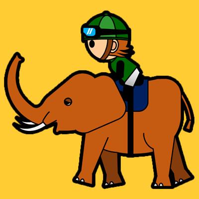 ゾウに乗る騎手のアイコン(6)画像7