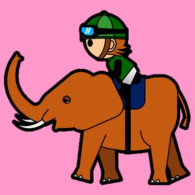 ゾウに乗る騎手のアイコン(6)画像8