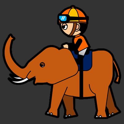ゾウに乗る騎手のアイコン(7)画像2