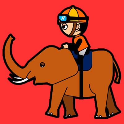 ゾウに乗る騎手のアイコン(7)画像3