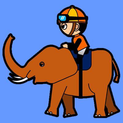 ゾウに乗る騎手のアイコン(7)画像4