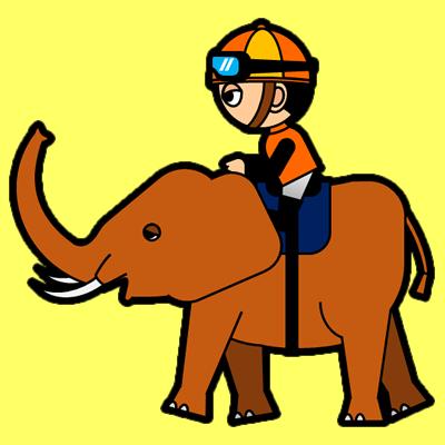 ゾウに乗る騎手のアイコン(7)画像5