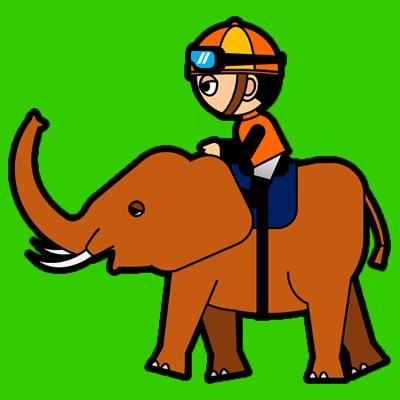ゾウに乗る騎手のアイコン(7)画像6