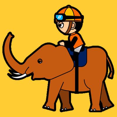 ゾウに乗る騎手のアイコン(7)画像7