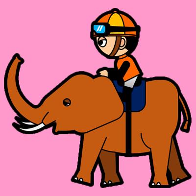 ゾウに乗る騎手のアイコン(7)画像8