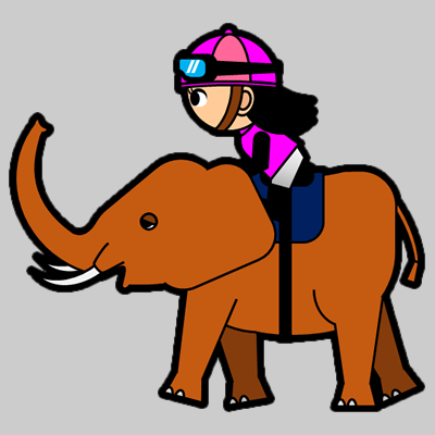 ゾウに乗る騎手のアイコン(8)画像