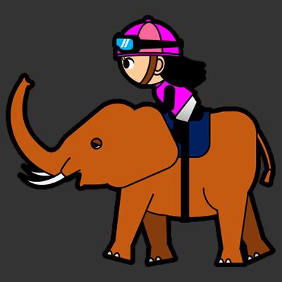 ゾウに乗る騎手のアイコン(8)画像2
