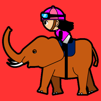 ゾウに乗る騎手のアイコン(8)画像3