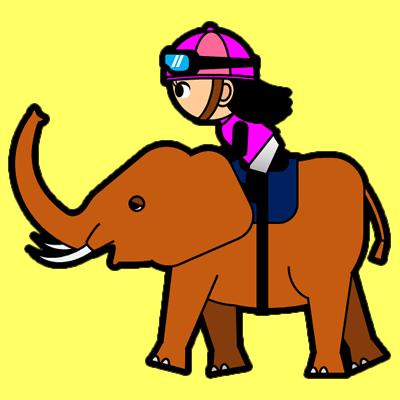 ゾウに乗る騎手のアイコン(8)画像5