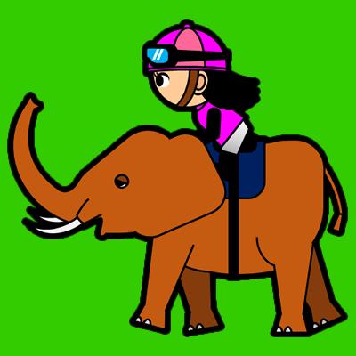 ゾウに乗る騎手のアイコン(8)画像6
