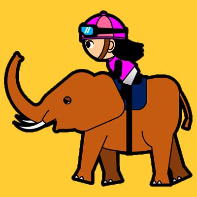 ゾウに乗る騎手のアイコン(8)画像7