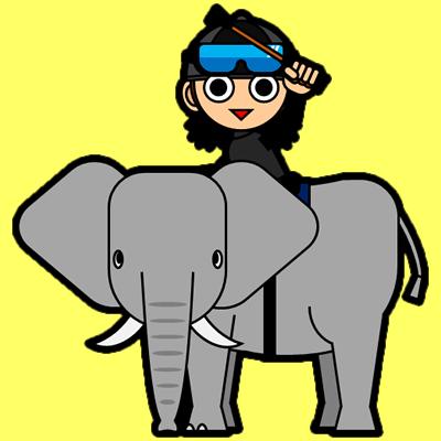 ゾウに乗る騎手のアイコン(10)画像5