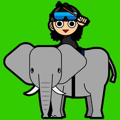 ゾウに乗る騎手のアイコン(10)画像6