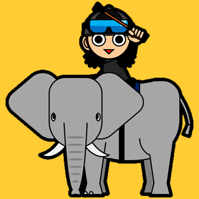 ゾウに乗る騎手のアイコン(10)画像7