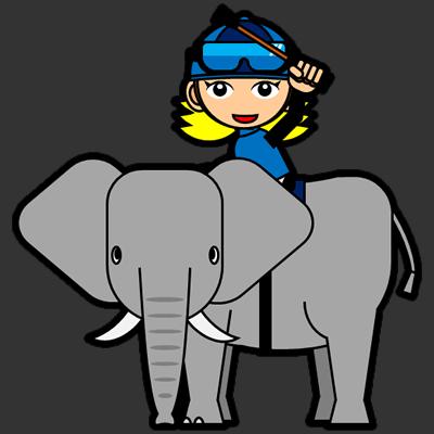 ゾウに乗る騎手のアイコン(12)画像2