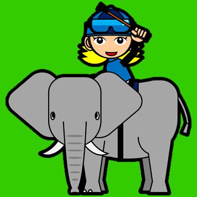 ゾウに乗る騎手のアイコン(12)画像6