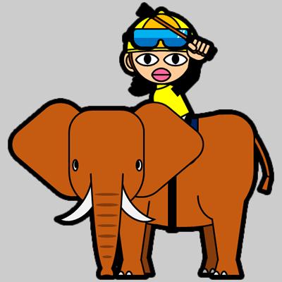 ゾウに乗る騎手のアイコン(13)画像