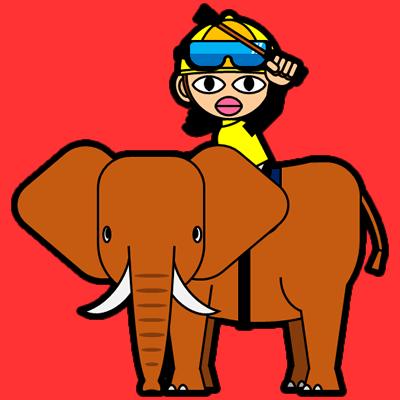 ゾウに乗る騎手のアイコン(13)画像3