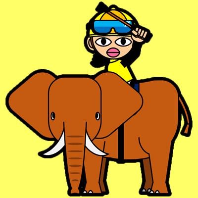 ゾウに乗る騎手のアイコン(13)画像5