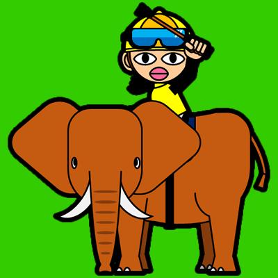 ゾウに乗る騎手のアイコン(13)画像6