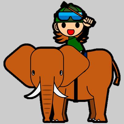 ゾウに乗る騎手のアイコン(14)画像