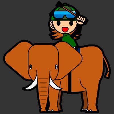 ゾウに乗る騎手のアイコン(14)画像2