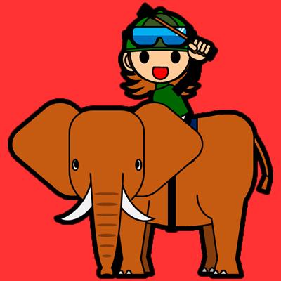 ゾウに乗る騎手のアイコン(14)画像3
