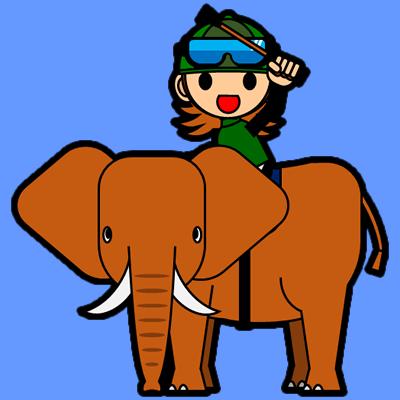 ゾウに乗る騎手のアイコン(14)画像4