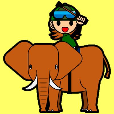 ゾウに乗る騎手のアイコン(14)画像5