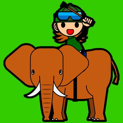 ゾウに乗る騎手のアイコン(14)画像6