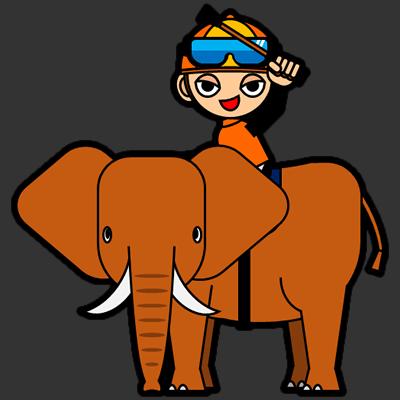 ゾウに乗る騎手のアイコン(15)画像2