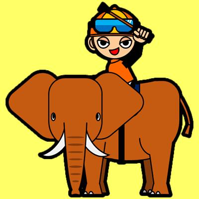 ゾウに乗る騎手のアイコン(15)画像5