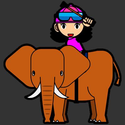 ゾウに乗る騎手のアイコン(16)画像2