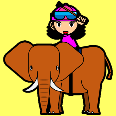 ゾウに乗る騎手のアイコン(16)画像5