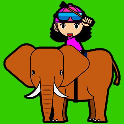 ゾウに乗る騎手のアイコン(16)画像6